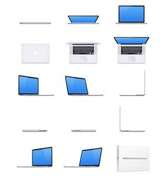 @Tarek El Sawy Check this - MacBook Pro - 15 Free Mockups by Dmitry Kovalenko, via Behance