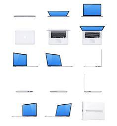 MacBook Pro - 15 Free Mockups by Dmitry Kovalenko, via Behance