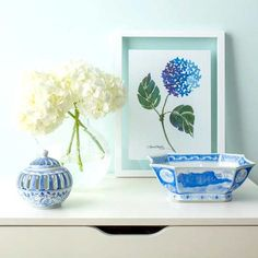 Add color and interest to your favorite sunny spot with a pretty floral art print. I personally like the look of floating frames to display prints. They are sleek and stylish yet affordable. Place one on your desk or side table, or create a gallery wall with a collection of your favorite artwork and photos.