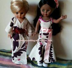 kika rubia de kimono y pepa mulata vestido flores