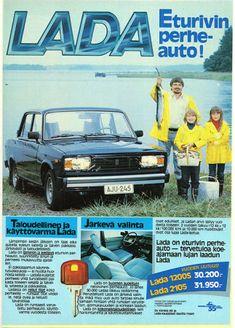 Laminoitu mainoskuva - auto Lada 1200S ostettavissa hintaan 1,50 € paikkakunnalla LOIMAA. Osta heti tästä! Nostalgia, Good Old Times, Teenage Years, Back In Time, Old Toys, Automobile, Commercial, Old Things, Childhood