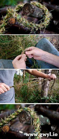 Create Natural Strong Rope From Grass – Gwyl. Bushcraft Camping, Camping Survival, Outdoor Survival, Survival Prepping, Survival Skills, Homestead Survival, Wilderness Survival, Survival Life Hacks, Survival Stuff