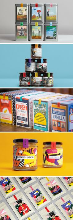 Liberty London New Food Range packaging by & SMITH