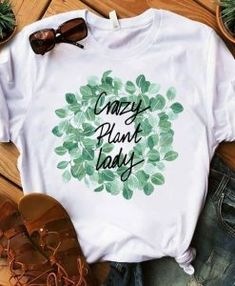 Crazy Plant Lady Tshirt This t-shirt is Made To Order, one by one printed so we can control the quality. Love T Shirt, Shirt Style, T Shirt Art, Shirt Print Design, Shirt Designs, Cute Tshirts, Tee Shirts, Paint Shirts, T Shirt Painting