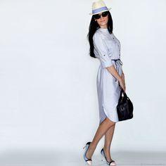 Платье-рубашка Slavjana - купить или заказать в интернет-магазине на Ярмарке Мастеров | Легкое, комфортное, летнее платье-рубашка…
