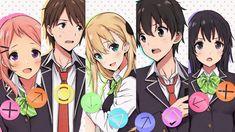 Anime 1920x1080 Anime: Gamers! Aguri (Gamers!) Amano Keita Karen Tendou Hoshinomori Chiaki anime girls