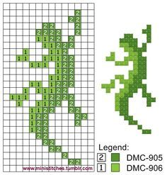 Image result for perler bead patterns lizard