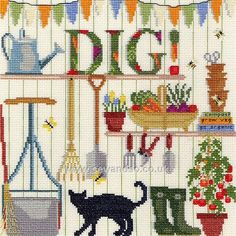 Dig! Cross Stitch Kit - Bothy Threads