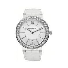 Swarovski 1094360 - Let us rock you.   #DesignerPoshWatches #ForHim #Gift #Watches #Watchcollection #UK #Classic_Watches #BestGifts #Trends_Watch #Watchoholic #Formens #Wristwatch #quartzwatch #watch #time #watchlover #watchaddict #watchoftheday #luxurylifestyle #watchesformen #Swarovsk Swarovski Watches, Armani Watches For Men, Quartz Watch, Fashion Watches, White Leather, Swarovski Crystals, Bracelet Watch, Silver, Accessories