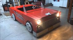 This is a prop car hand made by myself in my garage. It will be used in the upcoming musical production of Grease! at my daughters school where she teaches d...