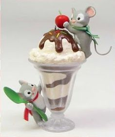 Mice Cream Sundae Hallmark Keepsake Ornaments Collectors Club exclusive ornament, 2014