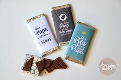Free printable pour réaliser des tablettes en chocolat pour papa. Téléchargez notre gabarit d'emballage de tablettes de chocolat pour votre super papa...