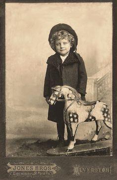 Vintage photo English boy Harry
