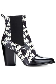 Kenzo Snakeskin Ankle Boots, $431, available at mytheresa.  http://www.refinery29.com/colorful-boots#slide-9  These Kenzo booties are as mesmerizing as you are.
