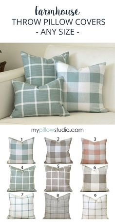 Indoor Farmhouse Pillow Covers - Etsy. Fabric is a medium weight, 100% cotton, screen printed.  • Zippers are sewn in the bottom seam for easy access. • Same fabric front