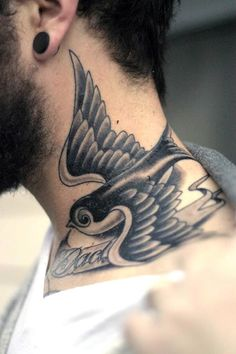Bird Tattoo Neck