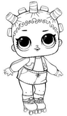 Kids Printable Coloring Pages, Cute Coloring Pages, Coloring Pages For Kids, Coloring Books, Colouring, Cute Kawaii Drawings, Flower Doodles, Pixel, Lol Dolls