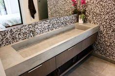 Concrete Trough Sink - Concrete Wave Design |  Concrete Sinks, Concrete Countertops, Concrete Firepits, Concrete Furniture