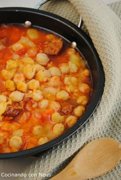 Guiso de garbanzos con thermomix