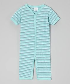 Love this Luca Charles Aqua & Gray Stripe Playsuit by Luca Charles on #zulily! #zulilyfinds