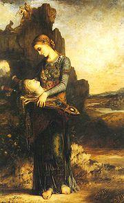 Gustave Moreau, La cabeza de Orfeo. 1865.