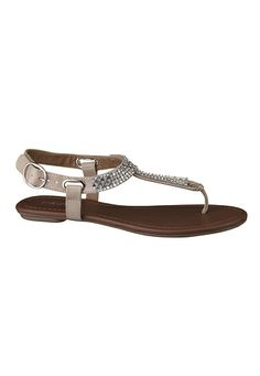 Aden Rhinestone Embellished Sandal (original price, $29) available at #Maurices