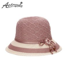[AETRENDS] Vintage Straw Fedora Hat Women Casual Sunshade Hats Z-2940