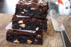 A decadent Gluten-Free Brownie recipe made with dark chocolate from pastry chef David Lebovitz, author of The Great Book of Chocolate.