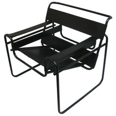 """""""Wassily""""  Lounge Chair with Rare Black Frame 