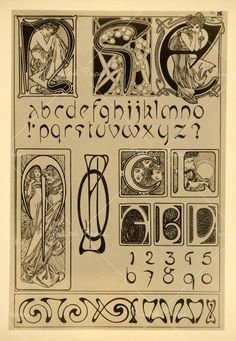 Early 20th-century Art Nouveau typeface.
