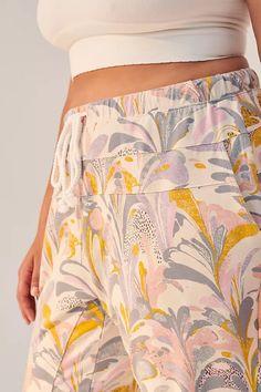 Flora Printed Joggers   Anthropologie Flora Print, Pull On Pants, Joggers, Anthropologie, Prints, Shopping, Fashion, Moda