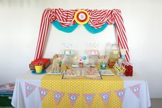 Dessert Table at a Circus Party