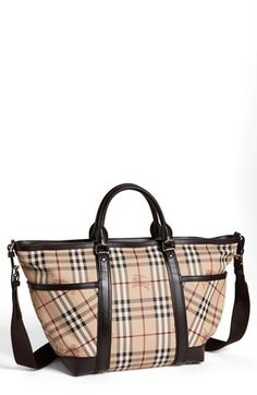 Burberry Check Diaper Bag available at #Nordstrom