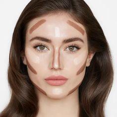 Facial Contouring Makeup, Skin Makeup, Cheekbones Makeup, Liquid Contour, Contour Nose, Pale Skin Contour, Highlight Contour Makeup, Highlighting Contouring, Best Contouring Products