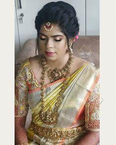 Temple Jewellery, Bridal Jewellery, Antique Jewellery Designs, Jewelry Design, Bridal Photography, Photography Poses, Dress Designs, Blouse Designs, Aari Work Blouse