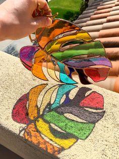 rainbow pride suncatcher rainbow art bohemian decor rainbow decor pride art Hand made stained glass rainbow boho hippie