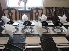 Awesome Upshernish table setting: kippah, yarmukah party, 3 yr. birthday table