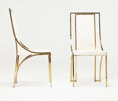 1stdibs.com | Set of 6 high back brass chairs visit http://www.artisticantichita.com/