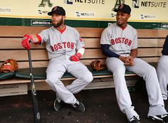Dustin Pedroia and Xander Bogaerts