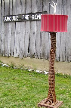 around the bend willow furniture :: standing lamp :: Other Great Stuff Willow Furniture, Rustic Furniture, Cool Furniture, Furniture Design, Willow Sticks, Red Lamp Shade, Willow Weaving, Willow Branches, Art Nouveau Architecture