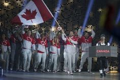 Canadian canoeist Mark Oldershaw is Canada's flag bearer and marches in with the Canadian athletes. The Opening Ceremonies of the Pan Am Games were held at the Rogers Centre in Toronto on July Rogers Centre, Pan Am, Toronto Star, Commonwealth Games, World Championship, Opening Ceremony, Olympics, Basketball Court, Canada