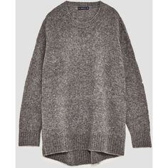 OVERSIZED SWEATER - View all-KNITWEAR-WOMAN | ZARA United Kingdom (2,580 INR) ❤ liked on Polyvore featuring tops, sweaters, oversized sweaters, oversized tops and over sized sweaters
