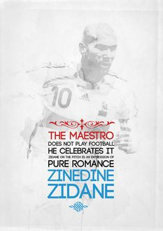 The Maestro - Zidedine Zidane ⚽ My Big Love, First Love, Love You, Santiago Bernabeu, Soccer Poster, Football Art, Zinedine Zidane, Sports Stars, Best Player