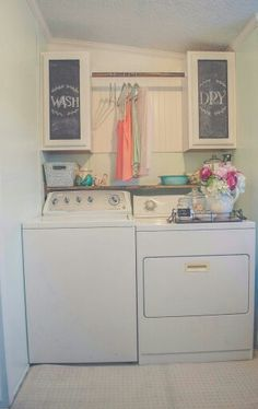 My rustic cottage laundry room.