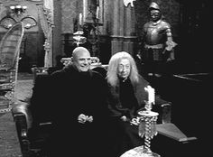 Fester and Grandmama watches TV