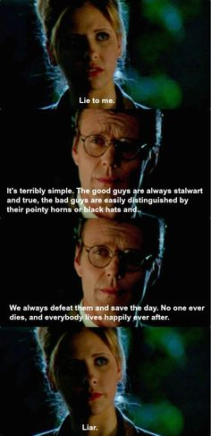 Buffy and Giles go deep. I think I'll have to watch Buffy...