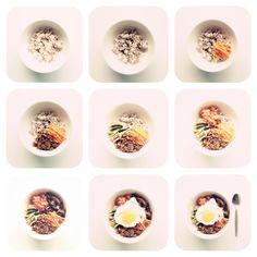 Step by step 비빔밥 (Bibimbap) - a great Korean dish.....