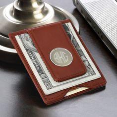 Monogram Leather Wallet - AnniGifts.com