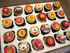 Firefighter Cupcakes | Shared by LION