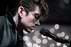 Alex Turner from the Arctic Monkeys, looking 50's rock n roll